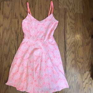 Everly coral spaghetti strap dress. Size medium.